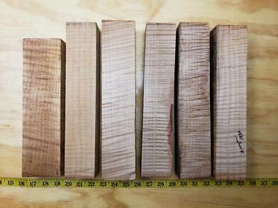 Vintage 1980 Oregon 6 Pieces Curly Maple Violin Neck Pistol Grips Knife Scales