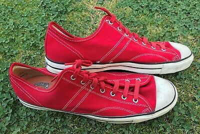 Vintage 1950's Sears JEEPERS 410 Red Canvas Low Top Athletic Sneakers Shoes 13