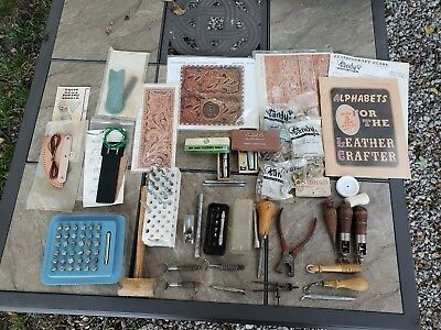 Vintage Leather Working Lot Craftool, Tandy, ETC