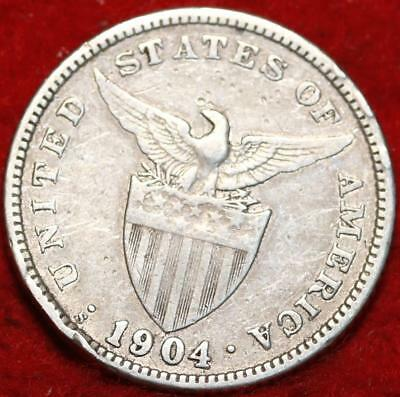 1904-S Philippines 20 Centavos Silver Foreign Coin