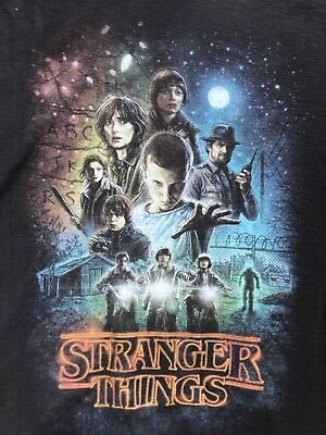 Stranger Things Doorway Short Sleeve black T Shirt sz L large Netflix TV Show