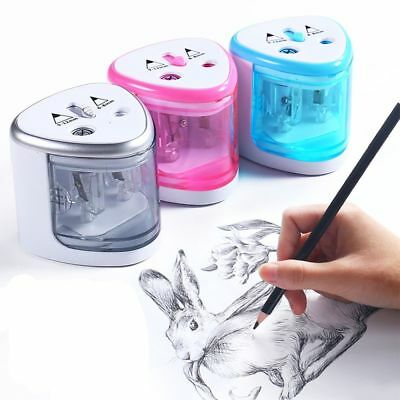 Electric Pencil Sharpener With Two Holes Automatic Stationery For 6-12mm Pencils