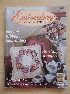 Embroidery & Cross Stitch Vol 5 #1~Ribbon~Hardanger~Assisi~Blackwork~Blanket