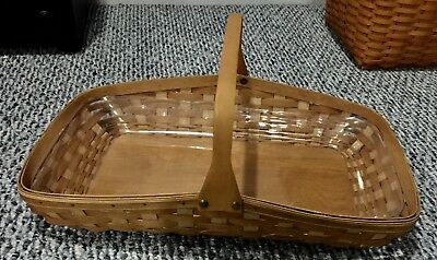 Longaberger 2005 AT HOME GARDEN BLOOMS BASKET + Plastic PROTECTOR Excellent Cond