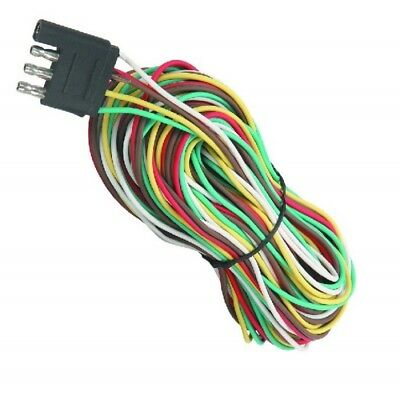 4 WAY 25FT Trailer Wiring Connection Kit Flat Wire Extension ... Trailer Wiring Extension on