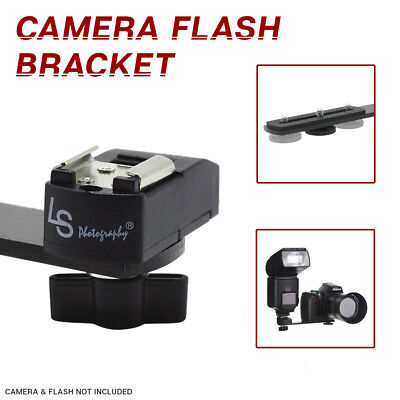"6.3"" Straight Camera Adapter Bracket 1/4""-20 Screw Hot Shoe Mount for Camera"
