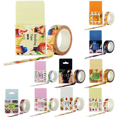 Masking Washi Tape Adhesive Tape DIY Decorative Sticker Label Stationery