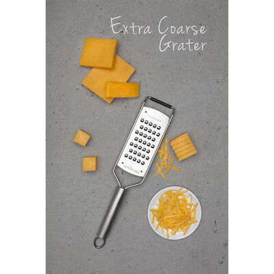 Microplane - Grater - Extra Coarse Blade with Non-Slip - Stainless Steel