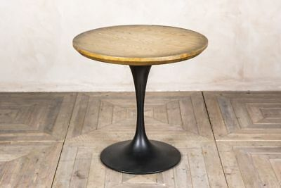 Round Restaurant Table Oak Top Dining Table With Tulip Inspired Base