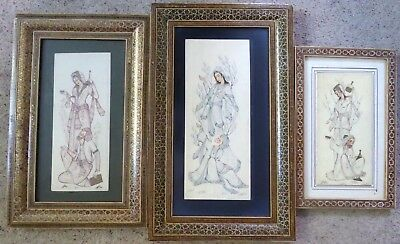 3 decorative Indian pictures of a goddess with pauper ##WAR67BS