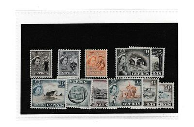 CYPRUS STAMPS. SG173-183. M/M. SHORT SET TO 50m. CAT £33.00.