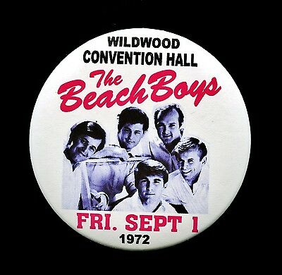 "THE BEACH BOYS 1972 Wildwood Convention Hall 3"" Magnet Back Button THouse 2015"