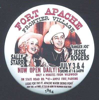 SALLY STAR & JESSE ROGERS FORT APACHE Frontier Village 1964 THouse 2016