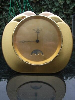 Jean Roulet Le Locle Mantle Clock in its Original Case / Moon Phase / Swiss Made