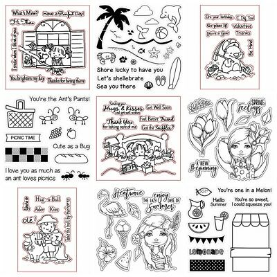 Summer Holiday Stamps Transparent Clear Silicone Stamp/Seal Scrapbooking Album