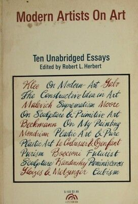 Modern Artists on Art: Ten Unabridged Essays (Spectrum Books) (1964-06-03), , Ve