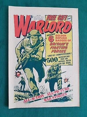 RARE WARLORD COMIC ISSUE No.52-6 GOLDEN REPLICA BADGES-BRITAINS FIGHTING FORCES