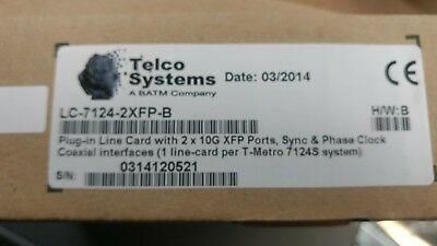 Telco Systems LC-7124-2XFP-B 2x10GE XFP SYNC CLOCK PHASE CLOCK quantity