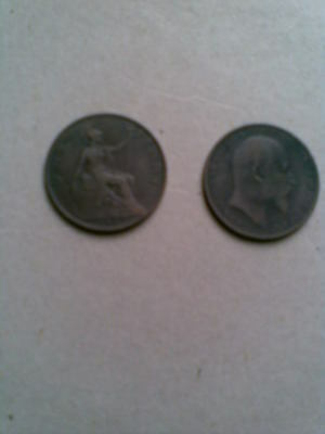 2 Uk Pennies. 1902 High And Low Tide .