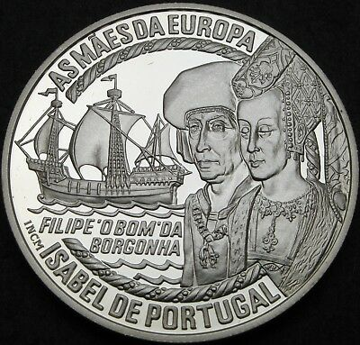 PORTUGAL 50 Euro 1997 Proof - Silver - Isabel de Portugal - 1593 ¤