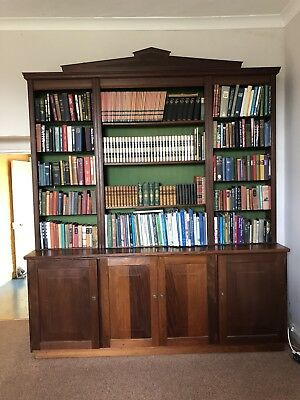 Vintage Antique Mahogany/Oak Wooden Very Large Library Open Bookcase/Cupboards