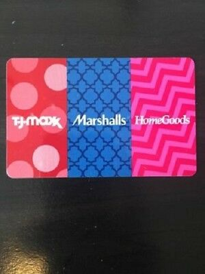 TJ Maxx + Marshalls - Merchandise Gift Card - $278.91 - FREE US SHIPPING