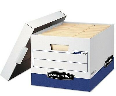 Bankers Box R-KIVE 7243 Max Storage Box Letter/Legal Locking Lid(lot of4)-skid/2