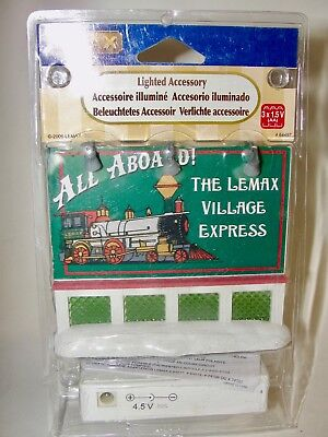 Lemax Village Accessory - Dept 56 - Lighted Train Sign 64497 Brand New W/ Pckg
