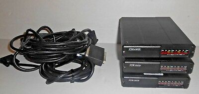 Lot of 3 Pyramid SVR-200V  VHF (150-174 MHz ) Vehicle Repeaters w/cables