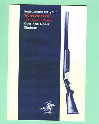Winchester Model 101 Pigeon Grade Factor Instruction Manual Reproduction