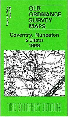 Old Ordnance Survey Map Coventry & Nuneaton 1899
