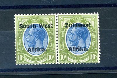 South West Africa    10s   Pair  (SG 39)      L.H.M.    (S998)
