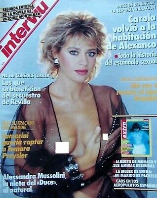 INTERVIU 640 / ALESSANDRA MUSSOLINI 7 Pages Great Pictorial !!! - EX