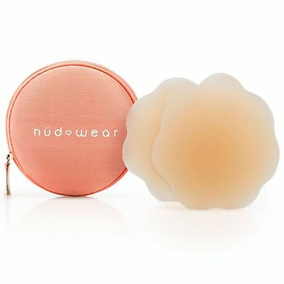 Nudwear Daisies Women's Waterproof Nipple Covers, Nude, One Size NEW