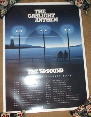 THE GASLIGHT ANTHEM concert gig poster 59 SOUND ANNIVERSARY TOUR 2018 DINGED