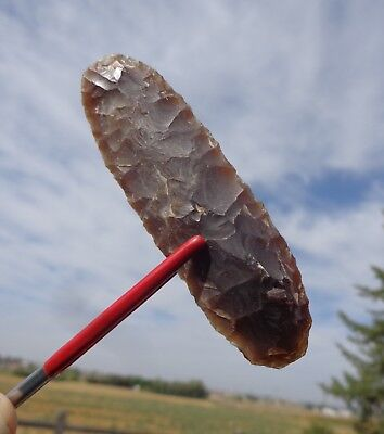 Nebraska Arrowheads - Side Knife - Knife River Flint - High Plains