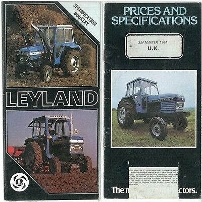 Leyland Tractor Prices and Specifications Booklets