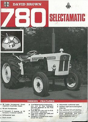 David Brown Tractor 780 Selectamatic Brochure