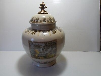 """Vintage Porcelain Urn with Cover 10-1/4"""" Tall"""