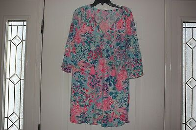 edb61cb44d1 LILLY PULITZER- DEL LAGO TUNIC DRESS SERENE BLUE Size Small S ~ NWOT ...