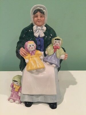 Vintage Royal Doulton HN2944 The Rag Doll Seller Porcelain Figure Figurine