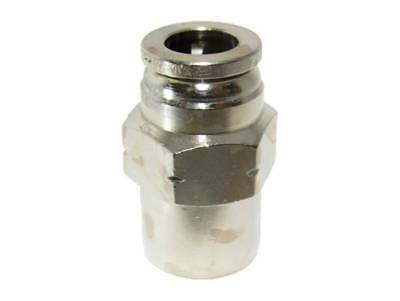"Numatics 1/4"" OD Airline X 1/8"" Female NPT Nickel Plated Brass Female Fitting"