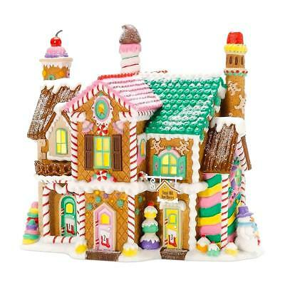 Dept 56 North Pole Village - Sugar Hill Row Houses 56961 Retired 2009 Wbx New