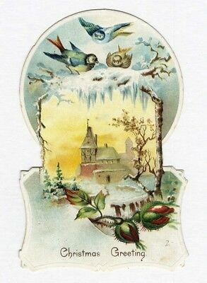 Dayton Ohio JERSEY COFFEE Spice Mills Co VICTORIAN Die Cut Trade Card CHRISTMAS