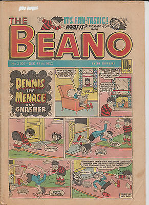 THE BEANO UK COMIC December 11 1982 No. 2108 Original Vintage Birthday Gift 2