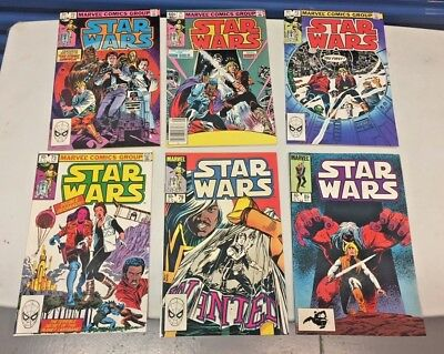 Lot of 6 Star Wars Comics Marvel (1977 Series) 1983 #s 70 71 72 73 79 89 vf/nm