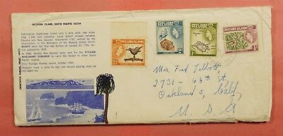 1963 Pitcairn Islands Bounty Bay Commemorative Cover To Usa + Miscellany
