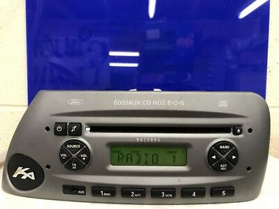 Ford Ka Aux Rds Eon Car Radio Stereo Cd Player Visteon With Code Front Aux