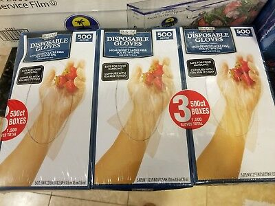 Daily Chef 1500 Ct Disposable Gloves Latex Free