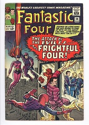 Fantastic Four #36 Vol 1 Super High Grade 1st App of the Frightful Four